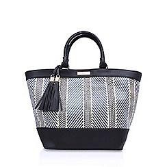 Carvela - Black 'Penelope Weave Shopper' handbag with shoulder straps