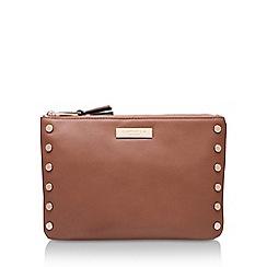 Carvela - Brown 'Perrie Stud 2 Pouch' zip fastening purse