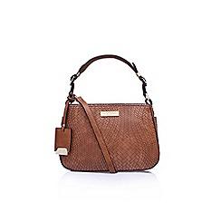 Carvela - Brown pam structured mini hobo tote bag