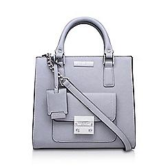 Carvela - Grey 'Patsy Front Pocket Lock' handbag with shoulder straps