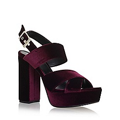 Carvela - Red 'Gorgeous' high heel sandals