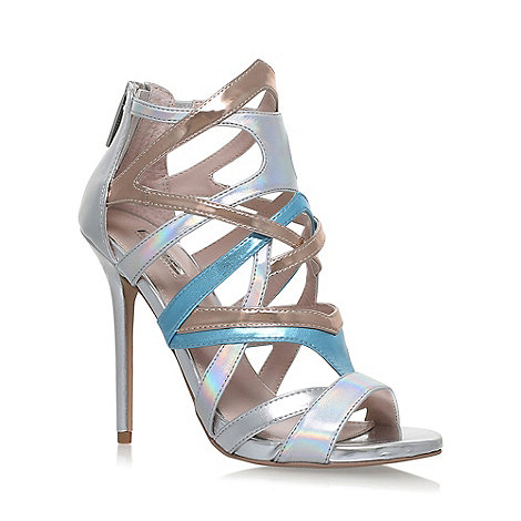 Carvela - Silver +GUM+ high heel sandals