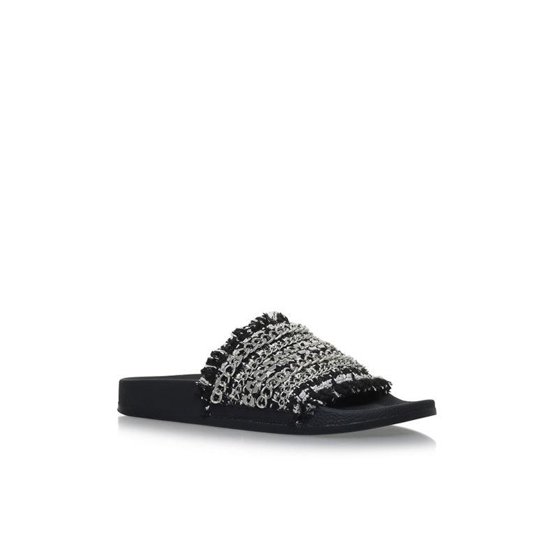 Carvela Black 'Kit' flat sandals