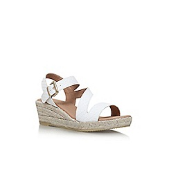 Carvela - White 'Kloak' high heel wedge sandals