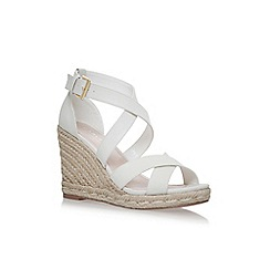 Carvela - White Smashing high heel wedge sandals