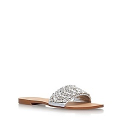 Carvela - Silver Bling flat sandals