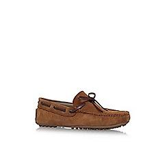 KG Kurt Geiger - Brown 'Lewes' flat slip on loafers