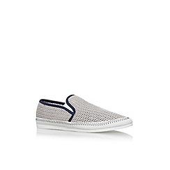 KG Kurt Geiger - Grey lyme flat slip on sneakers