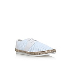 KG Kurt Geiger - White loughton flat lace up sneakers