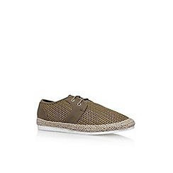KG Kurt Geiger - Brown loughton flat lace up sneakers