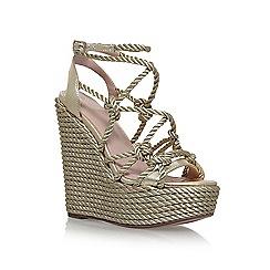 KG Kurt Geiger - Gold 'Notty' high heel wedge sandals