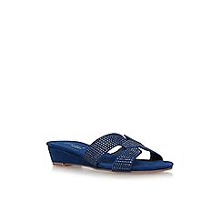 Carvela Comfort - Blue 'Sade' flat sandals