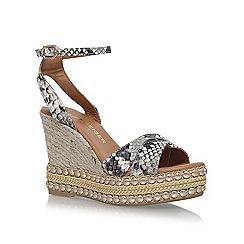 KG Kurt Geiger - Brown 'Amelia' high heel wedge sandals