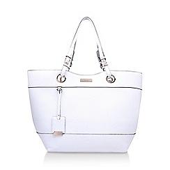 Carvela - White 'Lucinda2' woven handbag with shoulder straps