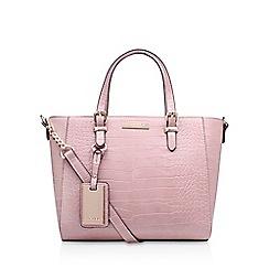 Carvela - Pink 'Danna2' croc medium tote bag