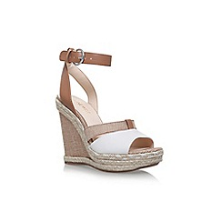 Nine West - Brown 'Funone' high heel wedge sandals