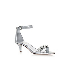 Nine West - Silver lipstick high heel sandals