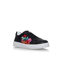 Nine West - Black 'Pirin' flat lace up sneakers