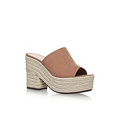 Nine West - Brown 'Skyrocket' high heel sandals