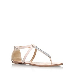 Miss KG - Natural 'Jersey' flat sandals