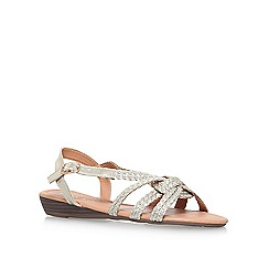 Miss KG - Gold 'Rollo' flat sandals