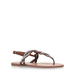 Miss KG - Brown 'Danni 2' flat sandals