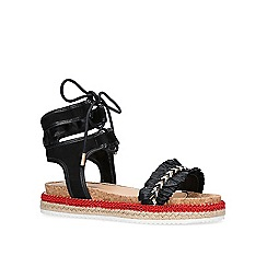 Miss KG - Black 'Pebble' flat sandals