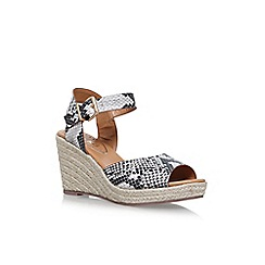Miss KG - Brown 'Paisley' high heel wedge sandals