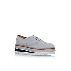 Carvela - Grey Lowdown flat lace up shoes