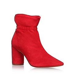 KG Kurt Geiger - Red 'Raglan' high heel ankle boots
