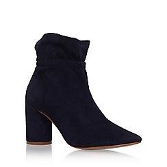 KG Kurt Geiger - Blue 'Raglan' high heel ankle boots
