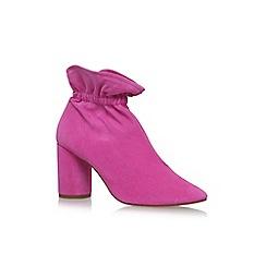 KG Kurt Geiger - Pink 'Raglan' high heel ankle boots