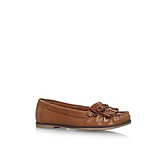 Carvela - Brown mock 2 flat loafers