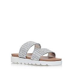 Carvela - Silver Summer flat sandals