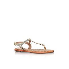 Miss KG - Gold 'Riva' flat sandals