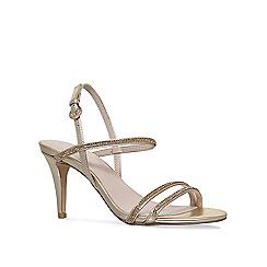Nine West - Gold 'Delilah' mid heel sandals