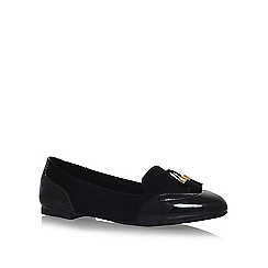 Miss KG - Black karina flat slip on loafers