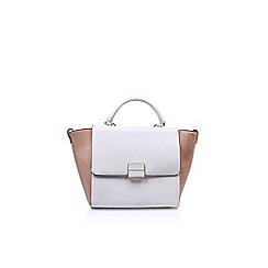 Nine West - White 'Dyonne Satchel LG' handbag with shoulder straps