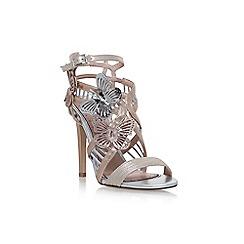Miss KG - Grey flourish high heel sandals