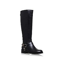 Carvela - Black petra wide fit flat knee boots