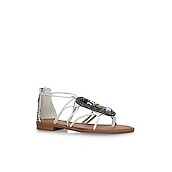 Nine West - White grinning flat sandals