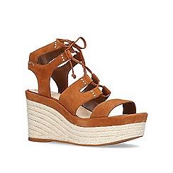Vince Camuto - Brown 'Katila' high heel wedge sandals