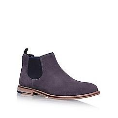 KG Kurt Geiger - Grey 'Halstead' flat chelsea boots