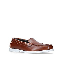 KG Kurt Geiger - Brown 'Mick' flat slip on loafers