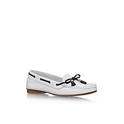 Nine West - White 'Jerry' flat slip on loafers