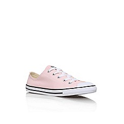 Converse - Pink 'CT Dainty Low' flat lace up sneakers