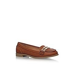 Miss KG - Brown 'Nissa' flat slip on loafers