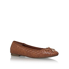 Miss KG - Brown 'Nellie' flat slip on pumps