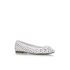 Miss KG - White nelson flat pumps