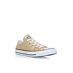 Converse - Gold 'CT Snake HI' flat lace up sneakers